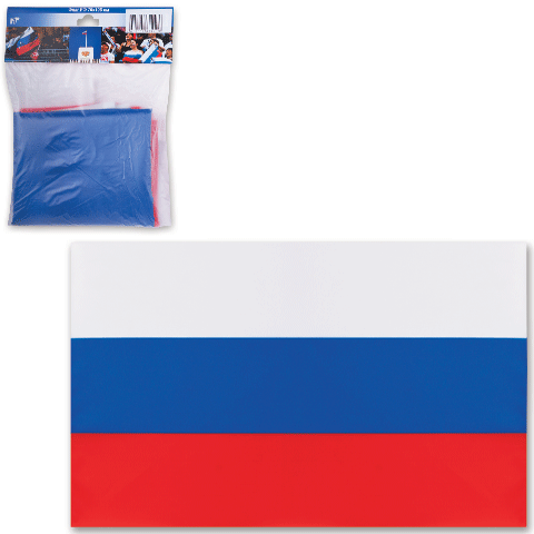 028295 Флаг РФ 70*105см, упаковка европодвес