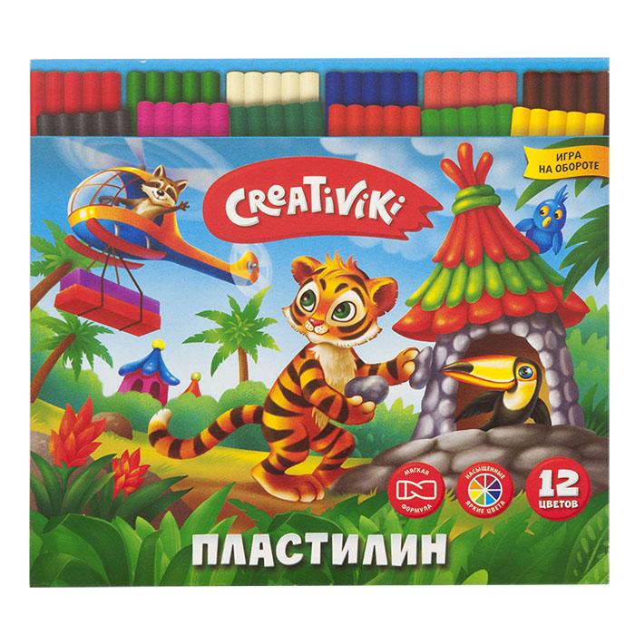 068641 Пластилин Creativiki 12 цв. 180 г