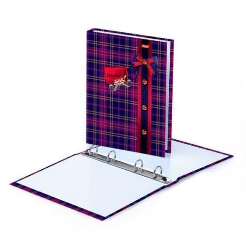 """078483 Папка на кольцах (без блока) А5 """"Шотландка"""""""