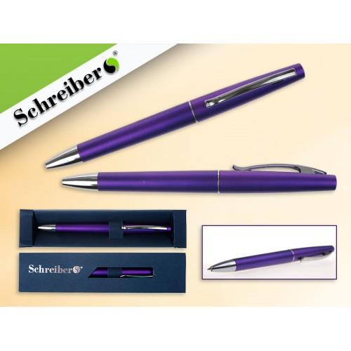 065542 Ручка шариковая в футляре, цв.корпуса Фиолетовый