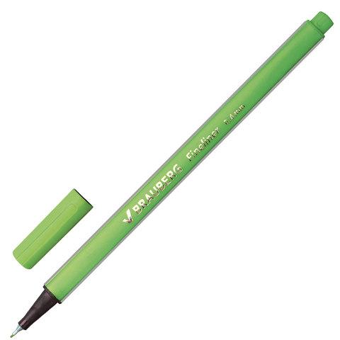 066420 Ручка капиллярная BRAUBERG Aero, трехгранная,светло-зеленая
