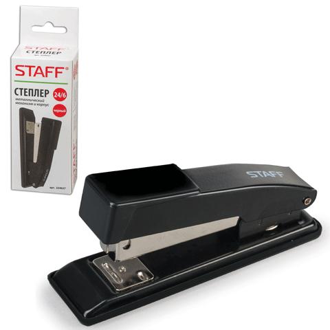 036168 Степлер STAFF эконом, №24/6, до 20 л, метал/корпус