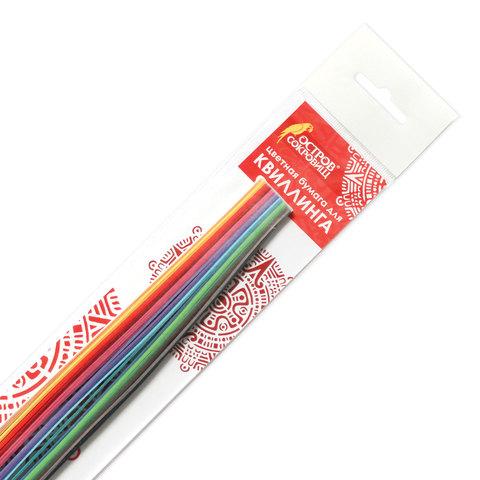 """074964 Бумага для квиллинга """"Цветная глазурь"""", 24 цвета, 120 полос, 3 мм х 300 мм, 130 г/м2"""