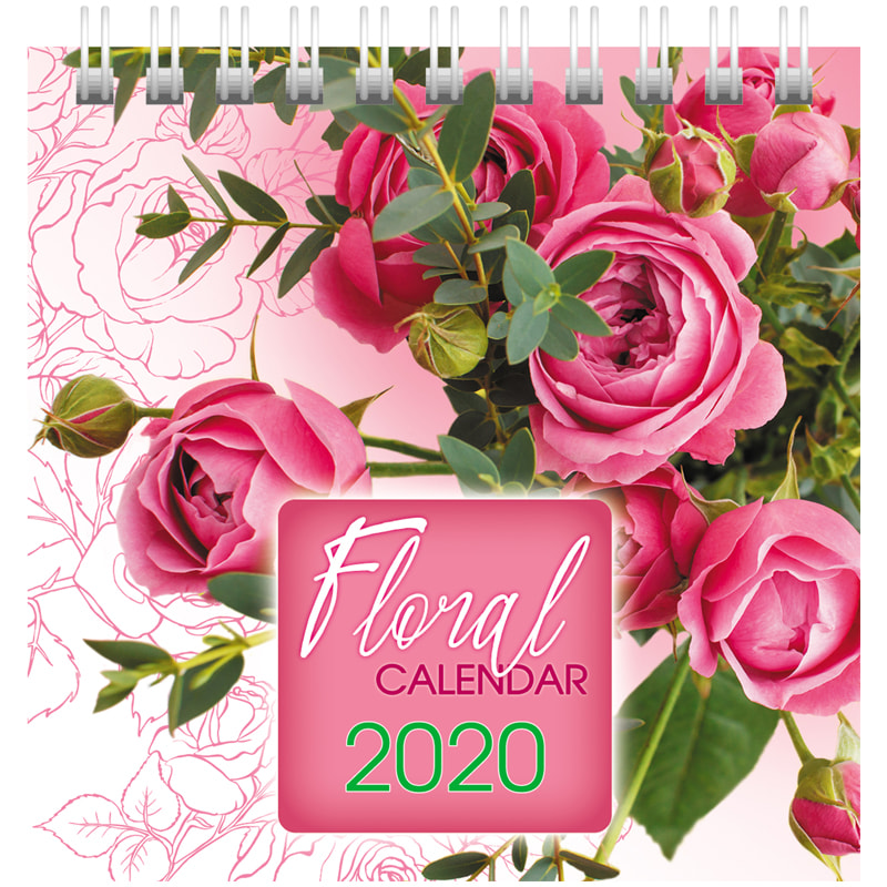 """089769 Календарь-домик 101*101мм """"Квадрат"""" - Flora, на гребне"""