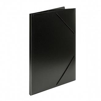 033073 Папка с резинкой  А4 черный