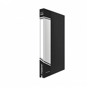 012568 Папка-скоросшиватель inФОРМАТ А4,черный пластик,карман