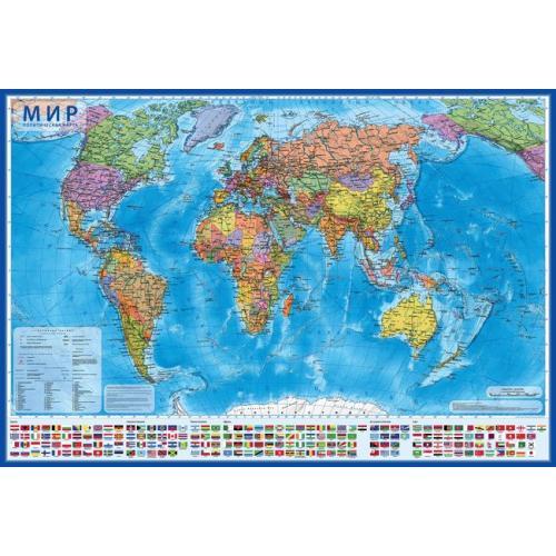 052650 Карта мира Политическая настенная 1:32М 101х70