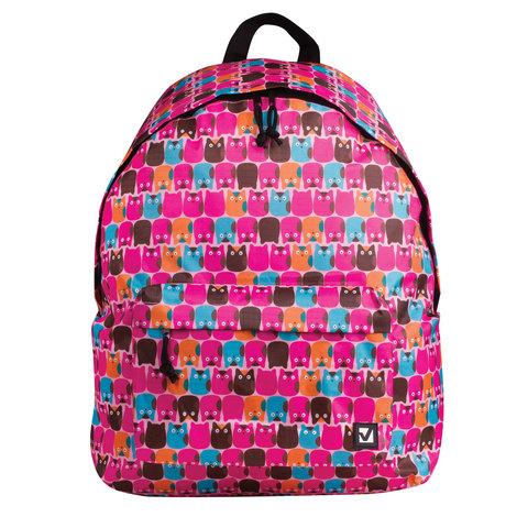 056973 Рюкзак BRAUBERG, сити-формат, розовый, Совята