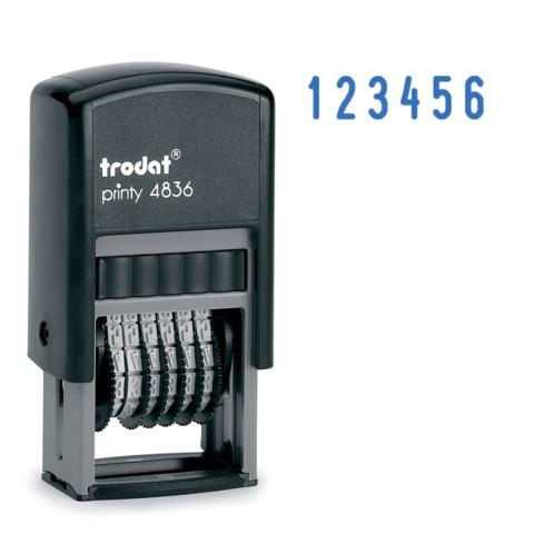 054504 Нумератор 6-разр, оттиск 15*3,8 мм синий, TRODAT 4836