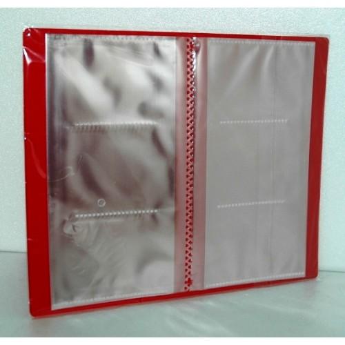 061678 Визитница пластик на 120 визиток, ассорти