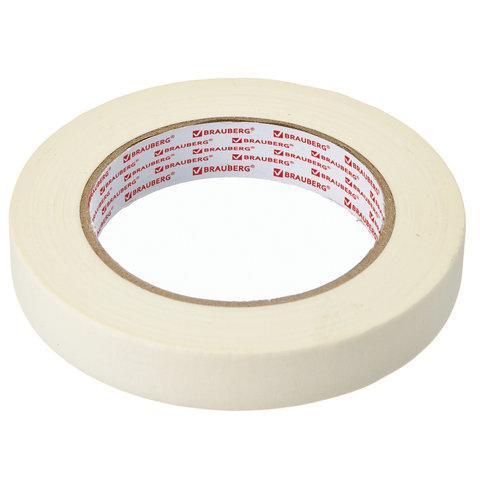 084872 Клейкая крепп лента малярная BRAUBERG профессиональная, 19 мм х 50 м
