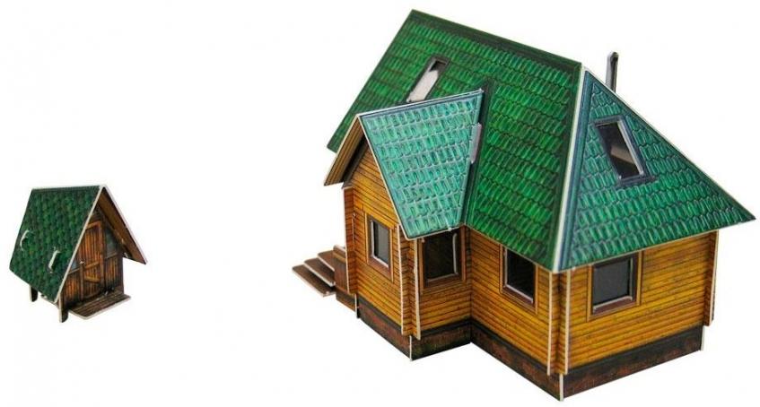 """036437 """"Дачный домик"""". Сборная модель из картона. Масштаб 1/87"""