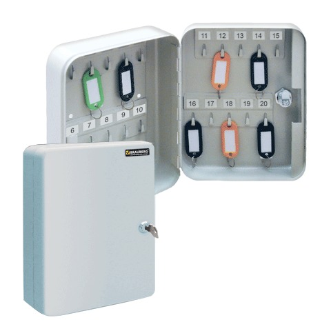 056533 Шкафчик (Ключница) на 20 ключей BRAUBERG  с замком