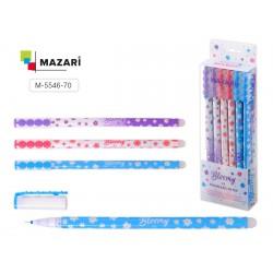 065515 Ручка - шпион MAZARI BLOOMY гелевая, синяя