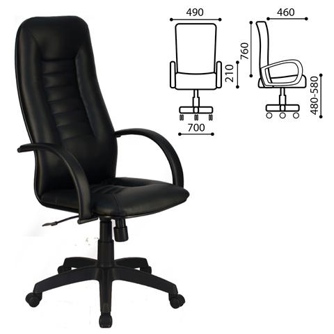 057204 Кресло офисное МЕТТА BP-2PL, экокожа, черное