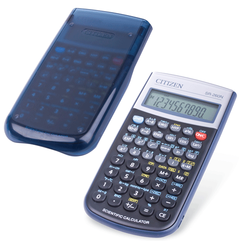 029642 Калькулятор CITIZEN инженерный SR-260N, 10+2 разр