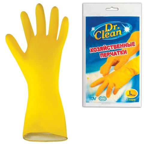 053046 Перчатки хоз.латексные DR.CLEAN, без х/б напыления,размер L