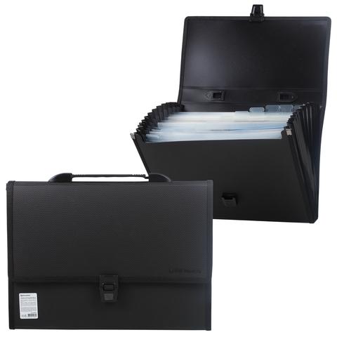065146 Портфель пластиковый BRAUBERG ДИПЛОМАТ А4,13 отделен.