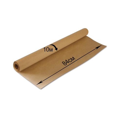 079845 Крафт-бумага в рулоне,  840 мм х 10 м, плотность 78 г/м2, BRAUBERG