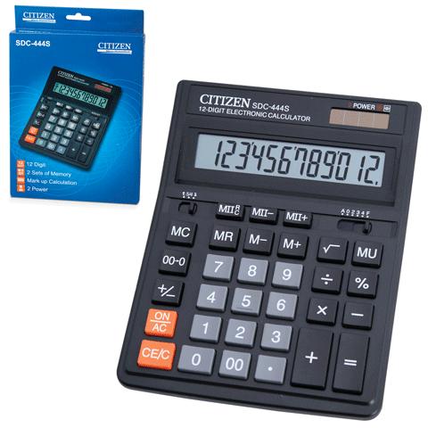 032016 Калькулятор CITIZEN настольный SDC-444S, 12 разр.