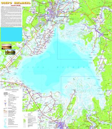 065188 Карта озера Ильмень. Дельта рек Мста, Ловать