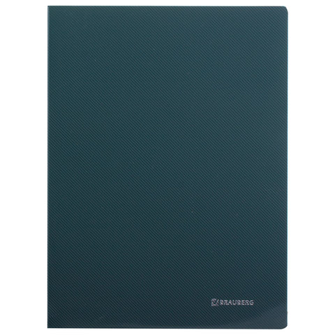 """012446 Папка с металлическим скоросшивателем и внутренним карманом BRAUBERG """"Диагональ"""", темно-зелен"""