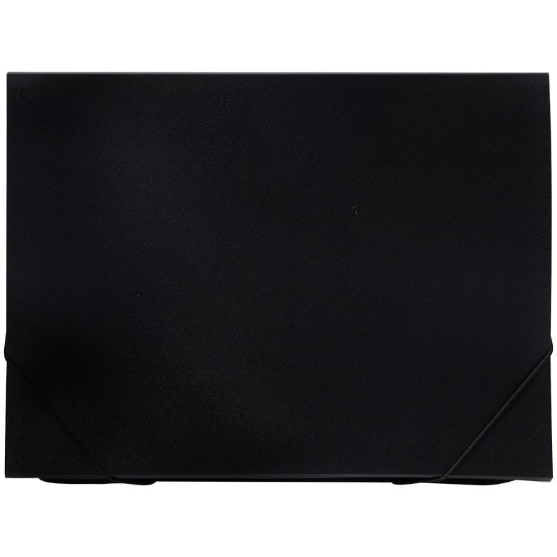 086192 Папка  6 отделений OfficeSpace, A4, 500мкм, на резинке, черная