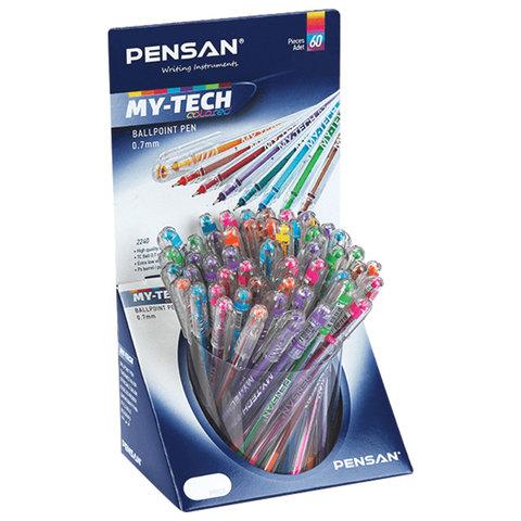 """091147 Ручка шариковая масляная цветная  PENSAN """"My-Tech Colored"""", 0,5 мм"""