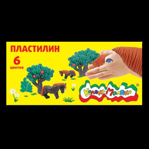 013607 Пластилин Каляка-Маляка, 6цв.