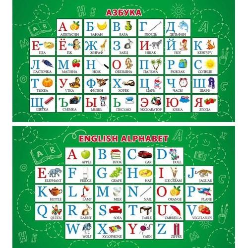 070757 Карточка - шпаргалка Алфавит русский