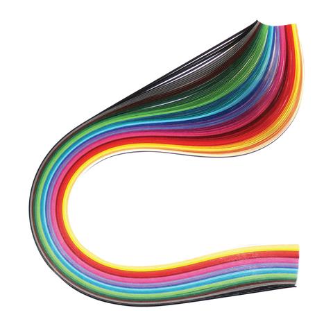 """074965 Бумага для квиллинга """"Цветная глазурь"""", 24 цвета, 120 полос, 7 мм х 300 мм, 130 г/м2"""