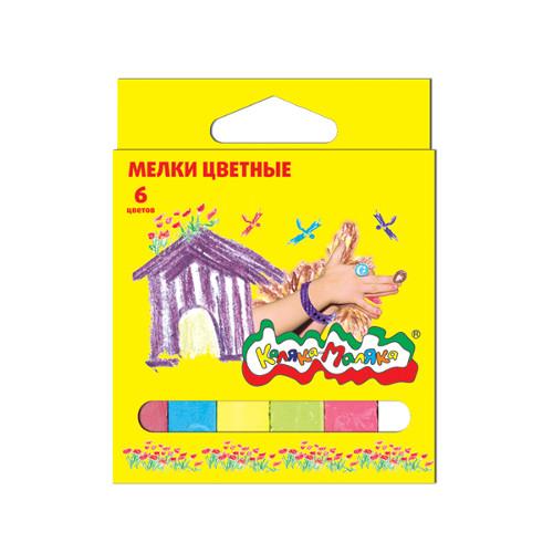 008773 Мелки цветные Каляка-Маляка, 6шт.