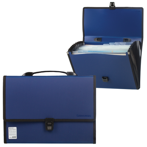 074304 Портфель пластиковый BRAUBERG ДИПЛОМАТ А4, 13 отделений