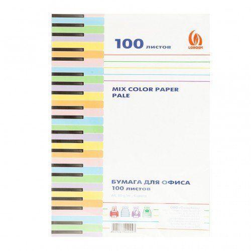 """064900 Бумага д/ксерокса """"Лорош""""4цв.100л.,пастель"""