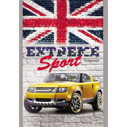 "069649 Блокнот А6  16л ""Авто и британский флаг"" скрепка"