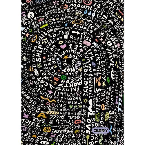 """076721 Ежедневник недатированный А6  """"Море букв"""" 320 стр."""