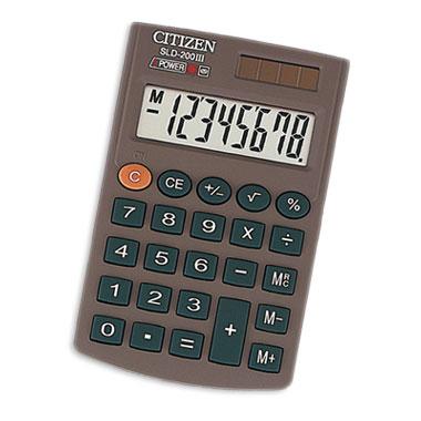 075862 Калькулятор карманный 8 разр двойное питание