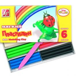 013555 Пластилин КРОХА 6цв.,мягкий (Луч)