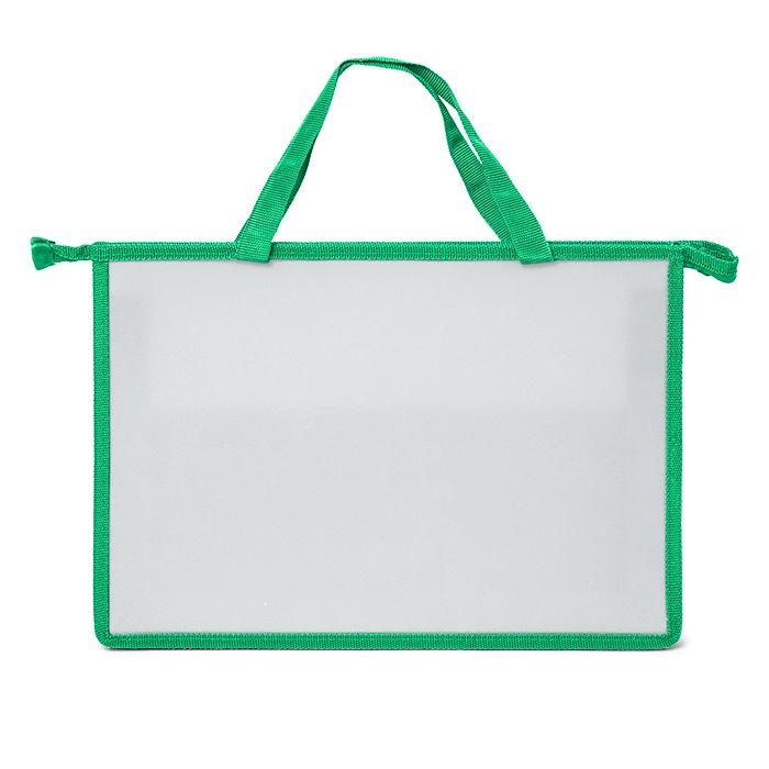 066811 Папка д/труда 1 отд. А4 Creativiki 380х304х285 ручка пластик зеленый