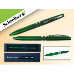 065295 Ручка шариковая в футляре, цв.корпуса Зелёный