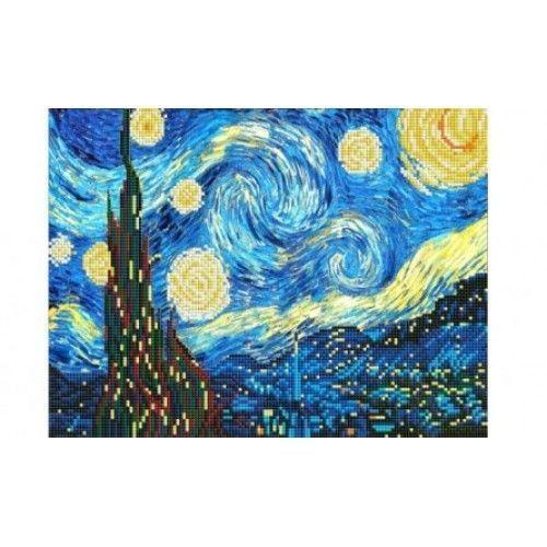 """078354 Мозаика алмазная по номерам 30*40см """"Ван Гог. Звездная ночь"""""""