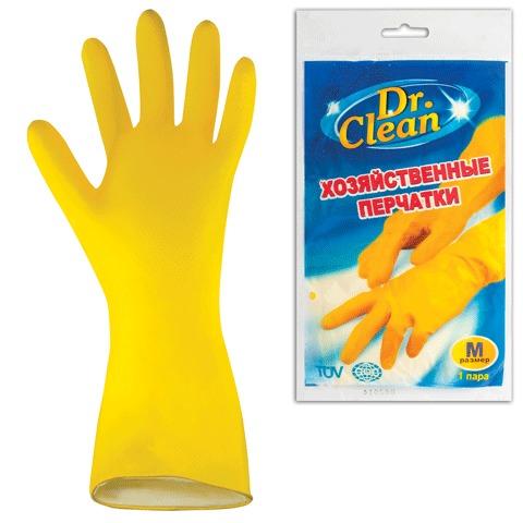 053047 Перчатки хоз.латексные DR.CLEAN,без х/б напыления, размер М