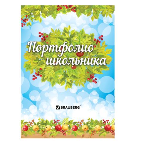 049104 Портфолио ШКОЛЬНИКА BRAUBERG 16л.