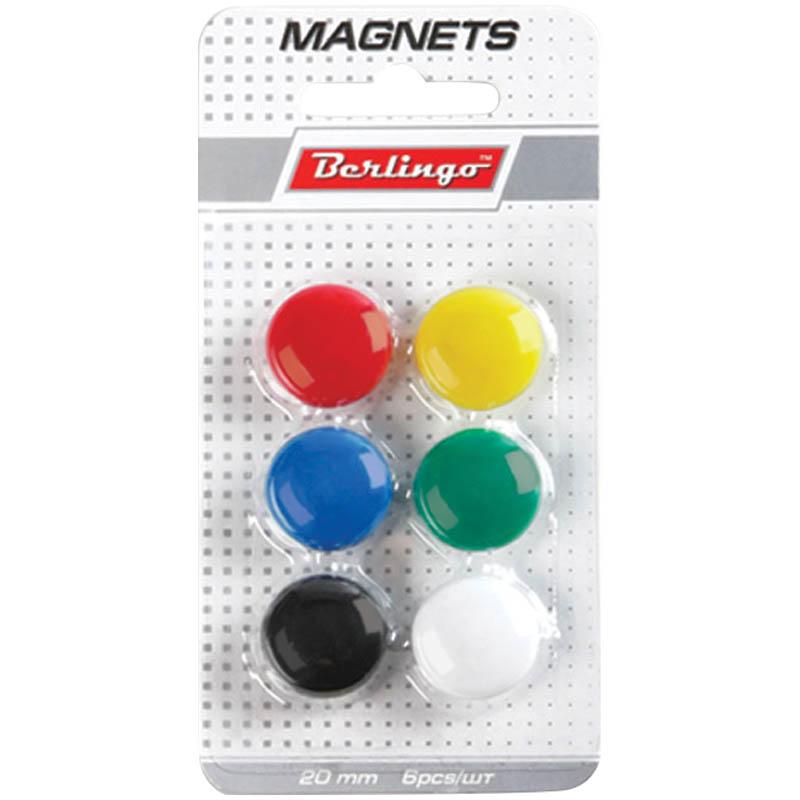 009598 Набор магнитов д/доски 6 шт.