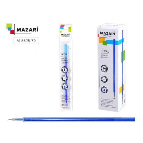 077182 Стержень MAZARI гелевый, синий, со стираемыми термочернилами, 128мм