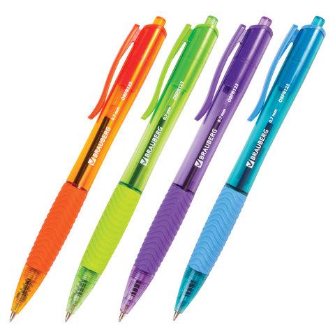 082061 Ручка шариковая масляная автомат. BRAUBERG Fruity RD, 0,7мм