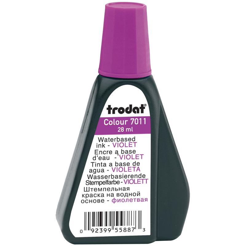 036293 Краска штемпельная TRODAT,фиолетовая,28мл