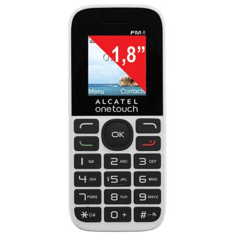 """063033 Телефон мобильный ALCATEL One Touch 1016D, 2 SIM, 1,8"""", белый"""