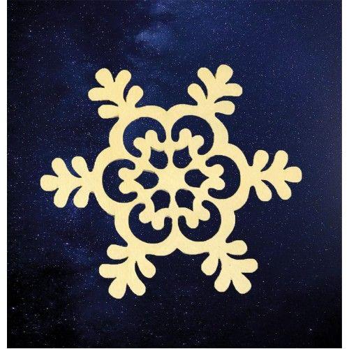 077116 Заготовка деревянная Снежинка  №37 6см