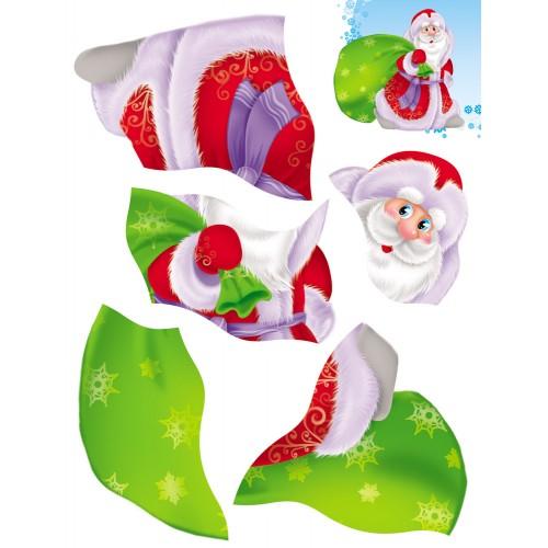 074045 НГ Аппликация А5 Дед Мороз с гармонью, 4л